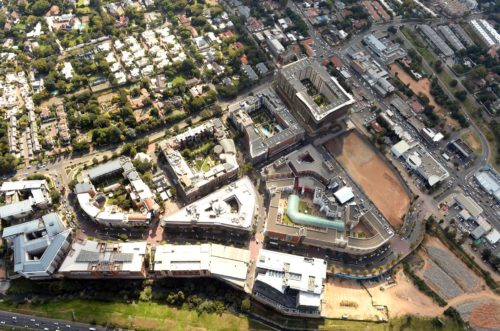 Melrose Arch aerial view