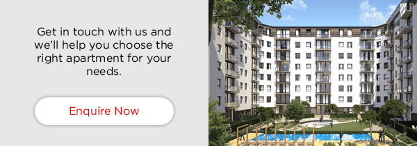 Get in touch with us and we'll help you choose the right apartment for your needs.